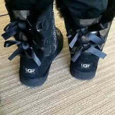 ugg bailey bow sale size 7 50 ugg boots ugg bailey bow black silver size 7 w original