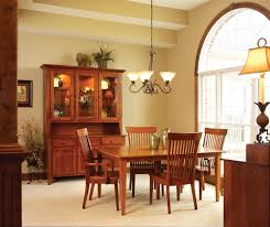 mission style dining room lighting dining room with wooden table