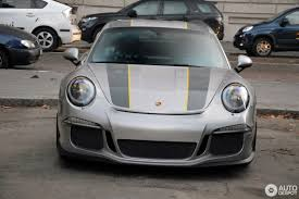 silver porsche gt silver 2017 porsche 911 r with yellow accents looks the part