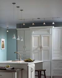 Track Lighting For Kitchen Track Lights With Hanging Lamps For Awesome Kitchen Look Track