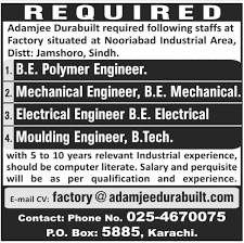 mechanical engineering jobs in dubai for freshers 2013 nissan adamjee durabuilt jobs 2013 mechanical electrical polymer moulding