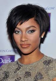 very short bob hairstyles for black women with oval faces cute