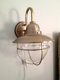 Battery Operated Wall Sconces Home Depot Decorating Sconces Plug In Wall Sconce With Switch In Brushed