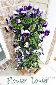 Home Depot Flower Projects - diy flower tower flower tower gardens and container gardening