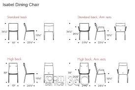 home design amusing standard chair measurements marvelous dining
