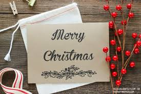 free merry christmas card printable