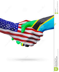 Tanzinia Flag Usa And Tanzania Flags Concept Cooperation Business Sports