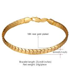 jewelry man gold bracelet images U7 scale chain bracelets for men jewelry 18k real gold platinum jpg