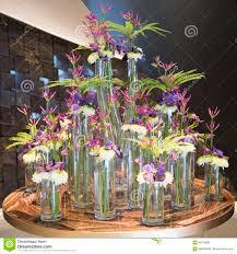 Beautiful Arrangement Floral Arrangement Blue Orchid Chrysanthemum Clematis Fern
