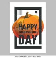 vector illustration pumpkin happy thanksgiving day stock vector