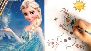 frozen olaf the snowman coloring pages disney queen elsa coloring