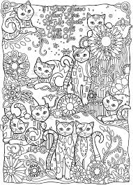 cats cutes animals coloring pages for adults justcolor