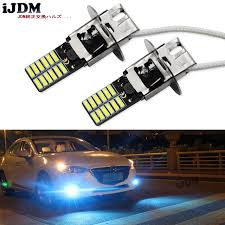 led replacement light bulbs for cars 2pcs 10000k ice blue 24 smd 4014 h3 led replacement bulbs for car