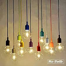 Hanging Lights Socket Pendant Light Ablevel E26 E27 Socket Base Silicon Pendant