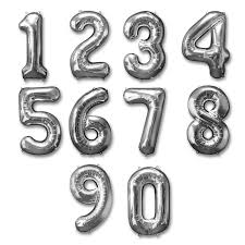 silver balloons express order silver numbers foil balloon 40 inch inflated option