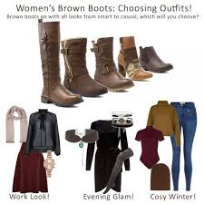 womens boots look how to style brown boots shoe zone