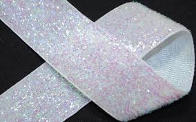 silver glitter ribbon 1 iridescent white glitter ribbon png