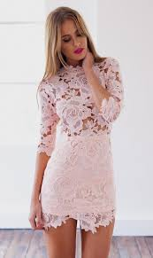 light pink bodycon dress light pink lace dress with sleeves naf dresses