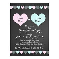 gender reveal party gender reveal party invitation hearts zazzle