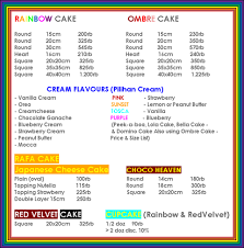 wedding cake harga biteme rainbow cake jakarta indonesia price list daftar harga