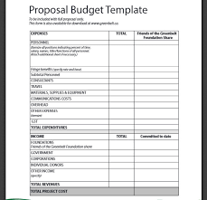 budget proposal template design budget template project preparing