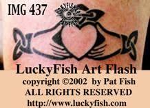 claddagh tattoos u2013 luckyfish art