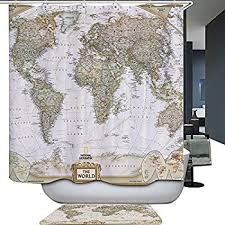 Just Right Periodic Table Shower Curtain Behind Safety Shower No Croydex World Map Pvc Shower Curtain Amazon Co Uk Kitchen U0026 Home
