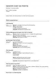 chef resume exles resume for restaurant cover letter