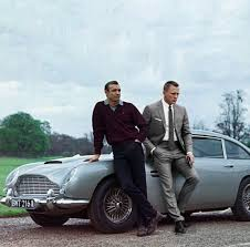 aston martin classic james bond shaun connery and daniel craig photo splice time warp cool