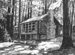 log cabin drawings drawings of homes and cabins by bobbie myers