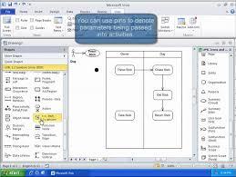 membuat use case skenario uml tutorial activity diagram with visio 2010 youtube