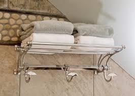 artistic bathroom train racks for traditional with tan walls