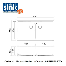 colonial double belfast butler sink the sink warehouse