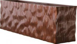 oversized modern fiberglass rectangular planter box made in america