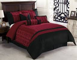 Black Comforter Sets King Size 7pcs Oriental Dynasty Black Red Jacquard Comforter Set Bed In A