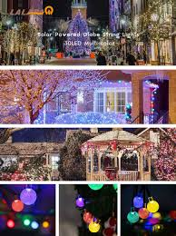 Christmas Lights Solar Powered by Amazon Com Lalapao Solar Powered Globe String Lights 2 Pack 30