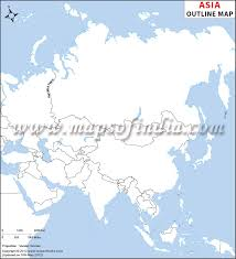 map of asai asia outline map asia blank map