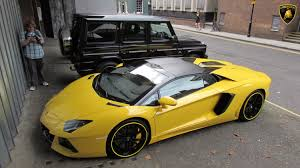 yellow lamborghini aventador roadster from oman