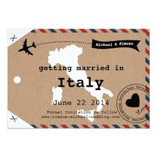 luggage tag save the date italy airmail luggage tag save the date with map paper invitation card