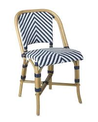 Navy Bistro Chairs Navy Bistro Chairs Parisian Bistro Woven Side Chair