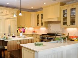 kitchen tile ideas brown wooden kitchen cabinet white yellow