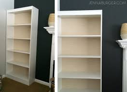 how to make a laminate bookcase look like built in bookshelf diy