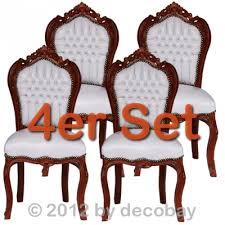 wei e st hle esszimmer stühle für esszimmer barockmöbel antike essgruppe weiss mit