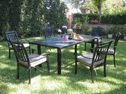 7 Pc Patio Dining Set - cbm outdoor cast aluminum 7 piece patio dining set a with cushions