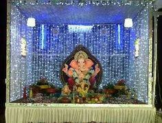 Home Ganpati Decoration Ganpati Decoration Craft Pinterest Decoration Ganesh And