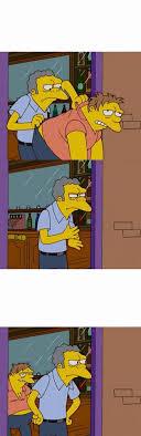 Moe Meme - moe corriendo a barney ejemplo en plantillas para memes facebook