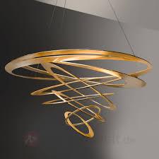 Pendelleuchte Esszimmer Design Loop Design Pendelleuchte In Gold Kaufen Lampenwelt De