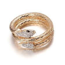 crystal snake bracelet images Fashion jewelry gold silver curved stretch snake bracelet for jpg