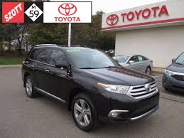 toyota highlander 2012 used used 2012 toyota highlander auto for sale in waterford mi