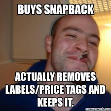 Meme Snapback - guy greg snapbacks